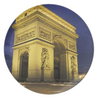 Europe, France, Paris. Arc de Triomphe Party Plate