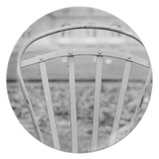Europe, France, Paris. Chair, Jardin du Plate