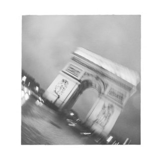 Europe, France, Paris. Spinning Arc de Triomphe Notepads