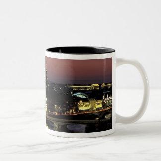 Europe, France, Paris, Sunset view of Eiffel Two-Tone Coffee Mug
