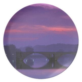 Europe, France, Provence, Avignon. Pont St, Dinner Plates