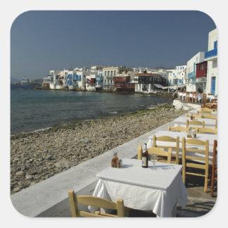 Europe, Greece, Mykonos. Views of the seaside Square Sticker