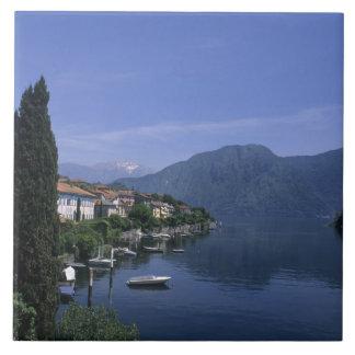 Europe, Italy, Lake Como, Tremezzo. Northern Tile