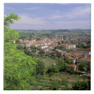 Europe, Italy, Tuscany, Certaldo. Medieval hill Tile