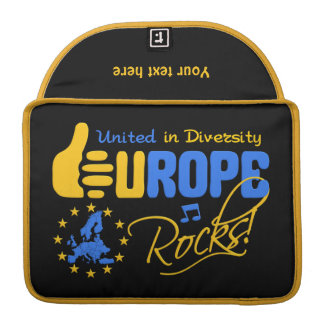 EUROPE ROCKS custom MacBook sleeve