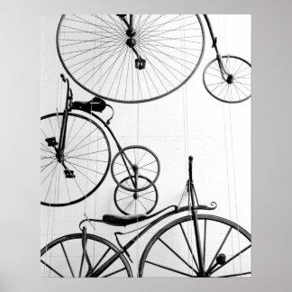 Europe, Switzerland, Lucerne. Bicycle display, Poster