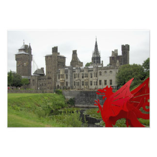 Europe, Wales, Cardiff. Cardiff Castle. Welsh 2 Photo Print