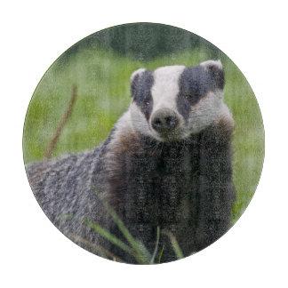 European Badger Round Cutting Board