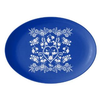 European Folk Art Serving Platter