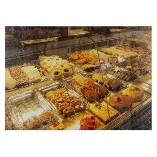 European pastries cutting board