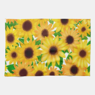 European Sunflowers Kitchen Towel