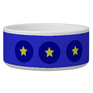 European Union Flag Star Pet Bowl