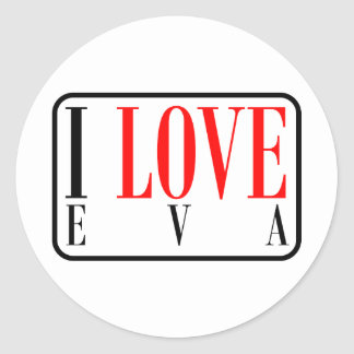 Eva, Alabama Classic Round Sticker