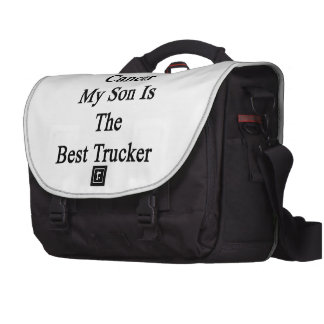 Even With Cancer My Son Is The Best Trucker Laptop Commuter Bag
