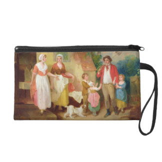 Evening, 1799 (oil on canvas) wristlet clutches