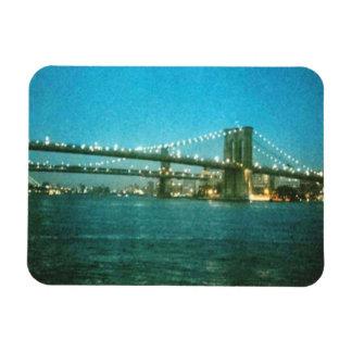 Evening at the Brooklyn Bridge Premium Magnet