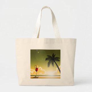 Evening Beach Canvas Bag