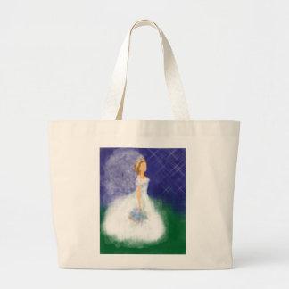Evening Bride Under the Stars Jumbo Tote Bag