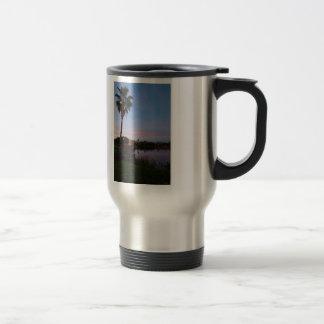 Evening By The Palm Tree Travel Mug