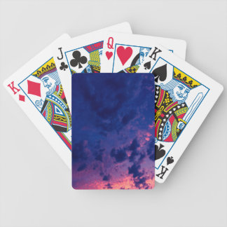 Evening clouds playing cards