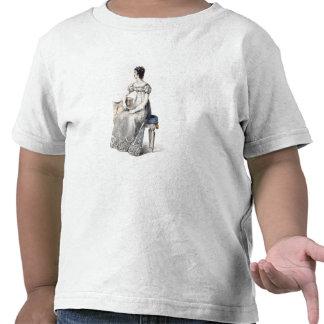 Evening dress, fashion plate from Ackermann's Repo T Shirt