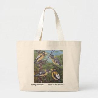 Evening Grosbeaks Tote Bags