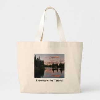 Evening in the Tetons Jumbo Tote Bag