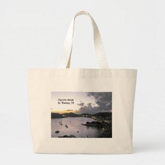 Evening on Charlotte Amalie, St. Thomas VI Jumbo Tote Bag