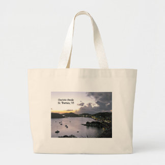 Evening on Charlotte Amalie, St. Thomas VI Large Tote Bag