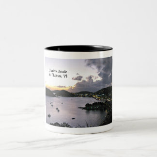 Evening on Charlotte Amalie, St. Thomas VI Two-Tone Coffee Mug