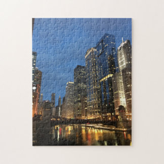 Evening on the Chicago River Jigsaw Puzzle