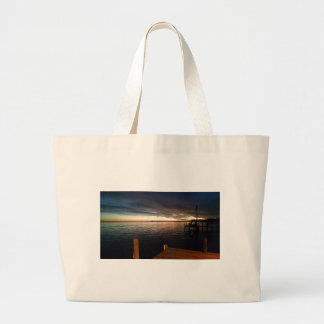 Evening on the Pier Large Tote Bag