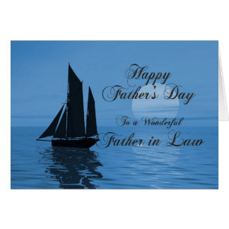 Evening sailing Father's Day card, Father-in-Law Greeting Card