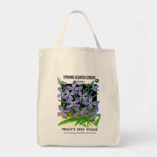 Evening Scented Buttons Seed Packet Label Tote Bag