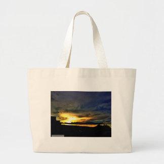 Evening Summer Sunset Jumbo Tote Bag