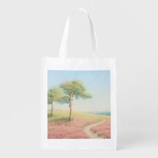 Evening Sun, New Forest Pine Trees Reusable Bag