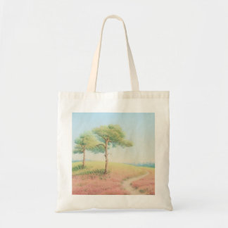 Evening Sun, New Forest Pine Trees Tote Bag