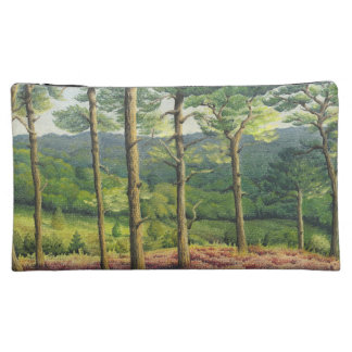 Evening Sun, Surrey Hills Pine Trees in Pastel Cosmetic Bags