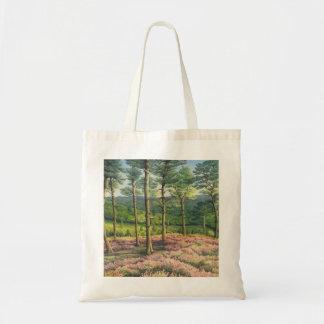 Evening Sun, Surrey Hills Pines Budget Tote Bag