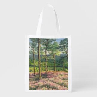 Evening Sun, Surrey Hills Pines Reusable Bag