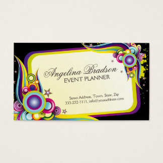 Event Planner Colorful Graphic Design Card