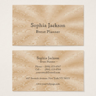 Event Planner Faux Gold Subtle Vines Business Card