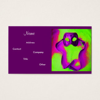 Event Planner- Masquerade II Business Card