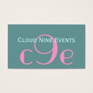 Event Planner Monogram Logo Business Cards