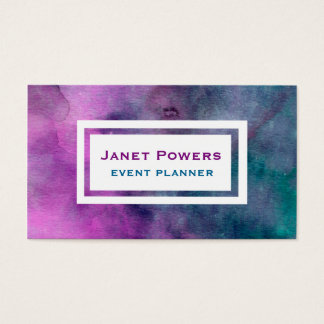 event planner watercolor custom business cards