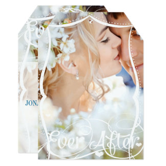 Ever After Typography Your Photo Wedding Invite