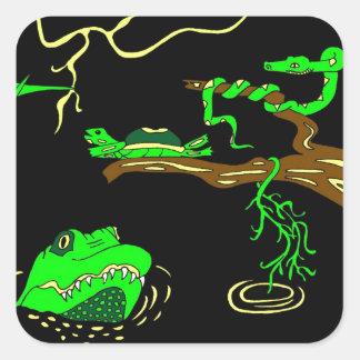 Everglades Square Sticker