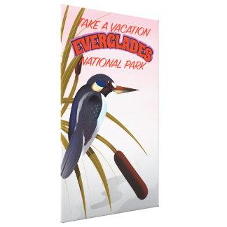 Everglades vintage travel poster. canvas print