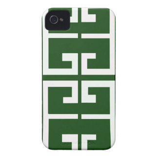 Evergreen and White Tile iPhone 4 Covers