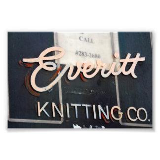 Everitt Knitting Company Sign, Milwaukee, WI Photo Art